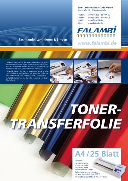metallic Toner- Thermo-Transferfolie DIN A4 für Laminiergerät - gold