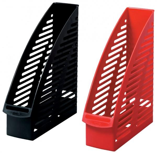 herlitz Stehsammler, DIN A4, aus Kunststoff, schwarz