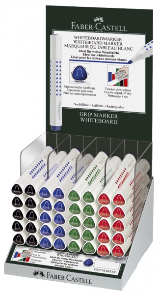 FABER-CASTELL Whiteboard-Marker GRIP, Rundspitze, im Display