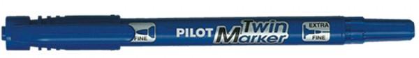 PILOT Permanent-Marker ´Twin Marker´, extra fein, blau