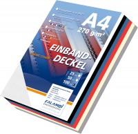 100 Einbanddeckel Leinenstruktur, Falambi / Premium 270 - weiß