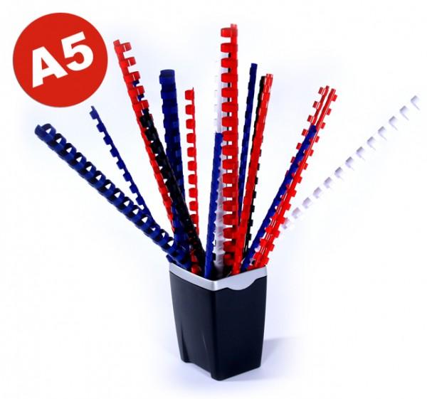 Plastik-Binderücken DIN A5 (14 Schlaufen), 8 mm - schwarz-1