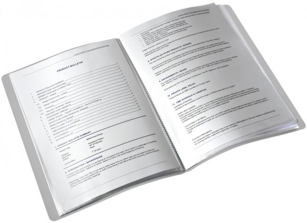 LEITZ Sichtbuch Style A4 PP mit 40 Hüllen satin schwarz