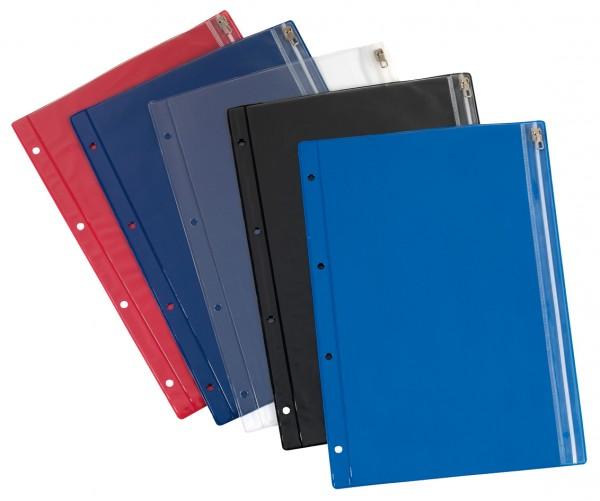 herlitz Reißverschlusstasche, DIN A5, PVC, farbig sortiert