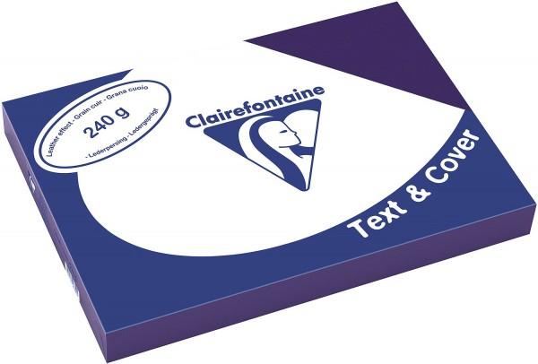 Clairefontaine Einbanddeckel, Lederstruktur, 240 g/m² - saphirblau - saphirblau