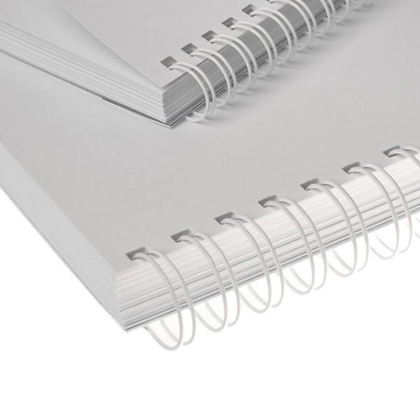 RENZ Drahtbinderücken, Teilung 3:1, 5.5 mm - weiss