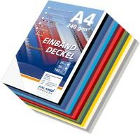 100 Einbanddeckel Lederstruktur, Falambi / Premium 240 - weiß