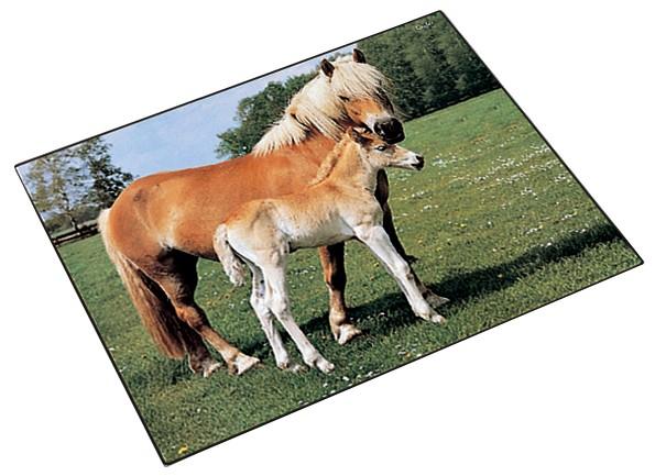 Läufer Schreibunterlage Pferd und Fohlen, 400 x 530 mm