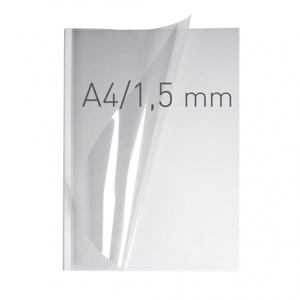 EasyCOVER A4 - PVC klar - 1,5 mm - weiß