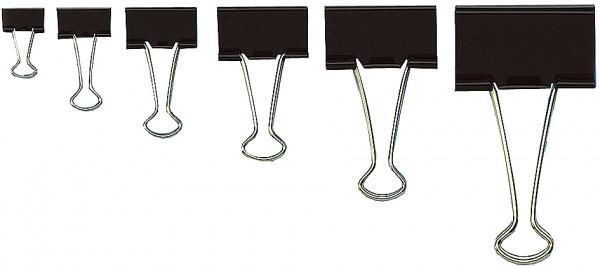 WEDO Foldback-Klammer, (B)15 mm, Klemmweite: 7 mm, schwarz