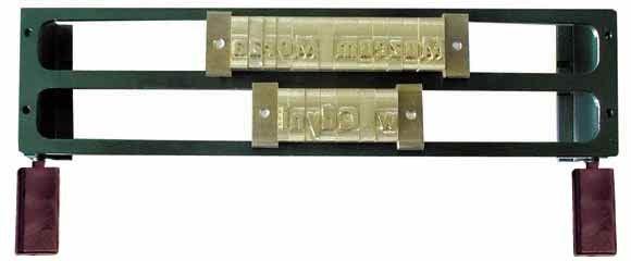 O. Frame 2L9 für 2 Reihen 9mm Fonts