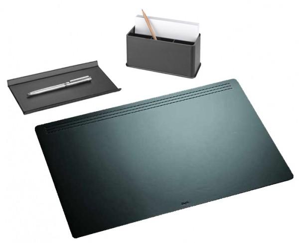 Läufer Schreibtisch-Set Ambiente MATTON, 3-teilig, schwarz