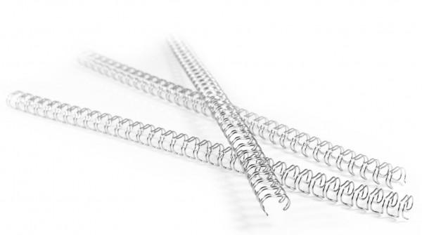 100 Drahtbinderücken Teilung 3:1, 6,4 mm - ca. 35 Blatt - weiß