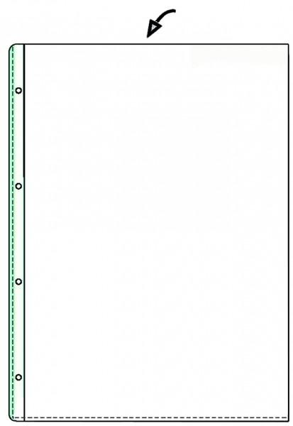 Hetzel Prospekthülle Standard A4 Pvc Genarbt 0 08 Mm