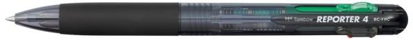 TOMBOW Druckkugelschreiber ´REPORTER 4´, schwarz-transluzent