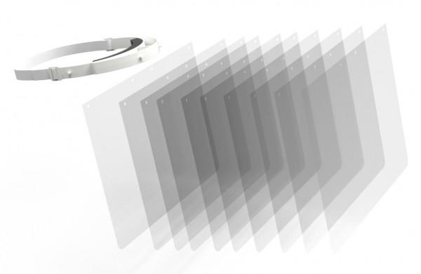 RENZ Ersatzschilde für Gesichtsschutz, transparent
