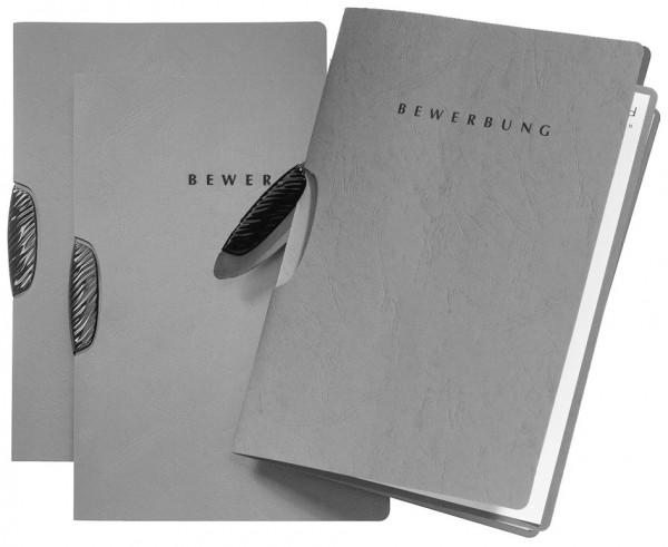 PAGNA Bewerbungsmappe ´Swing´, DIN A4, aus Karton, grau