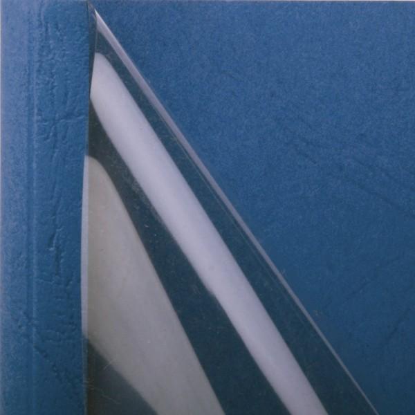 25 Thermobindemappen, Leder farbig, 1.5 mm - blau - blau