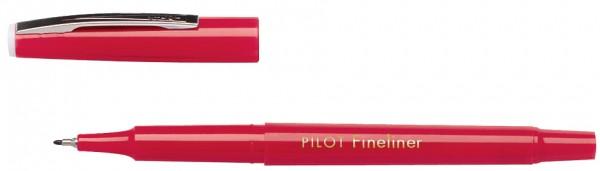 PILOT Fineliner SW PPF, extrafein, Tinte & Schaft: rot