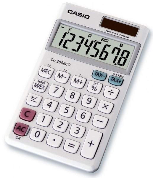 CASIO Taschenrechner SL-305 ECO, Solar-/ Batteriebetrieb