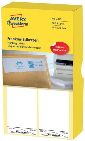 AVERY Zweckform Frankier-Etiketten, 157 x 41 mm, einzeln