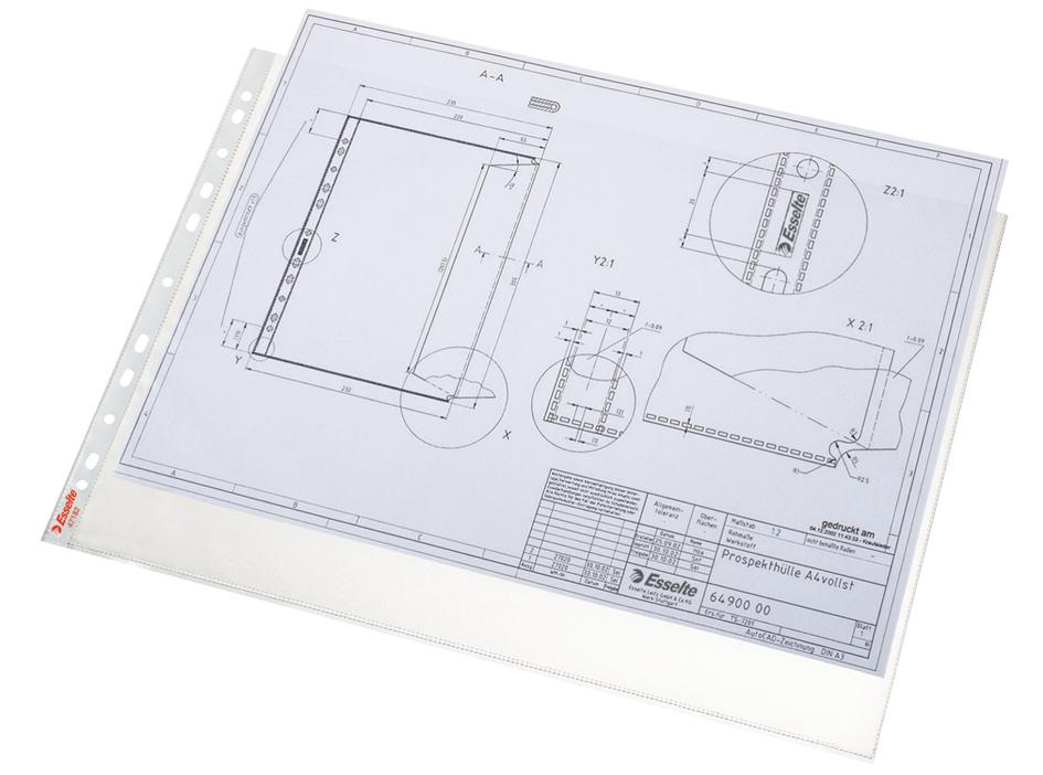 Esselte Prospekthülle Standard Plus DIN A3 quer PP 0,08mm 50 Hüllen