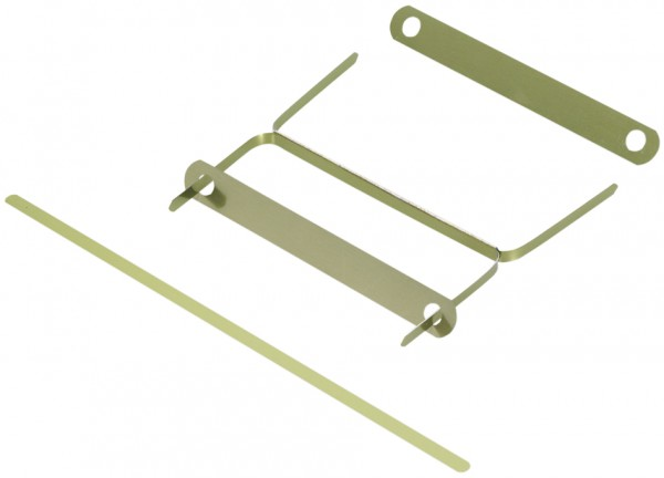 Heftstreifen metall  ELBA Deckleiste aus Metall, messingfarben lackiert | Falambi