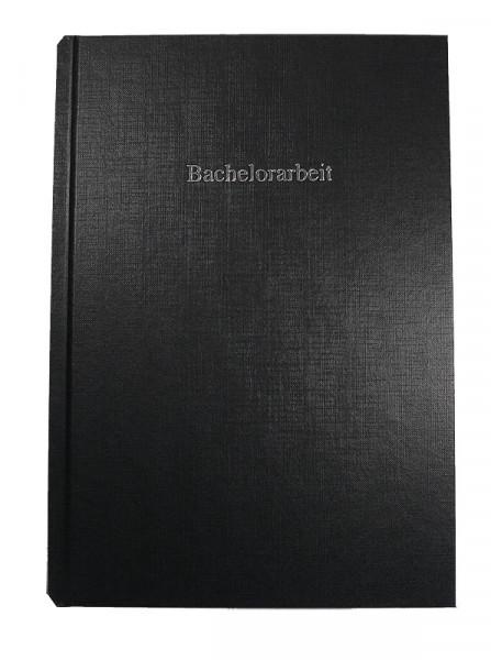 Bucheinband Hardcover ST, Prägung BACHELORARBEIT - schwarz & Prägung