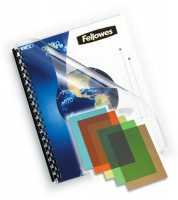 Deckelfolie DIN A4, Fellowes, transparent-farbig, 200mic - blau