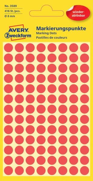 AVERY Zweckform Markierungspunkte, ablösbar, 18 mm, pink