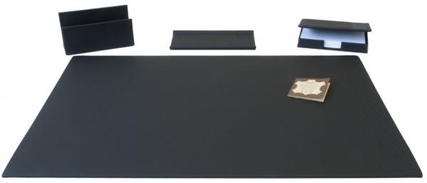 Läufer Schreibtisch-Set LA LINEA, 4-teilig, schwarz