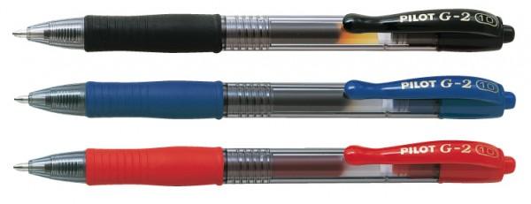 PILOT Gelschreiber G2 10, Druckmechanik, Strichfarbe: rot