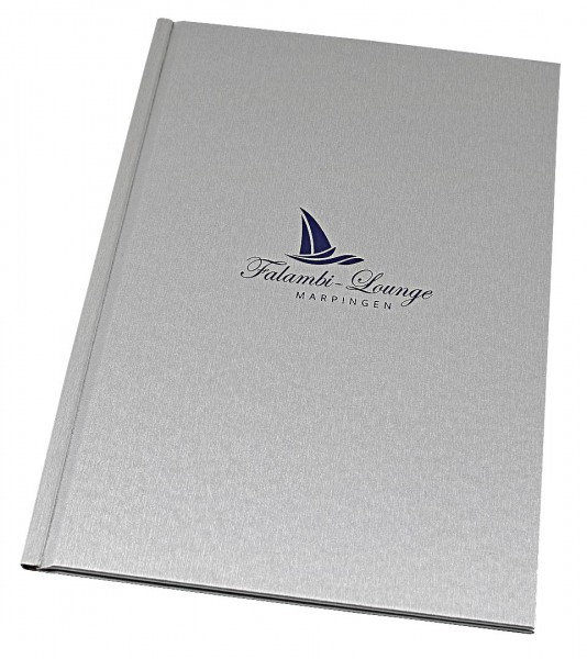Hardcover Mappe Gastronomie techno silber