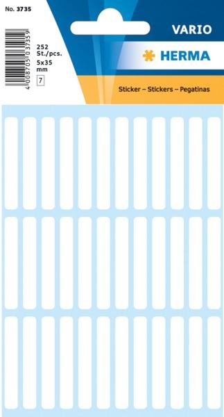 HERMA Vielzweck-Etiketten, 34 x 67 mm, weiß, Kleinpackung