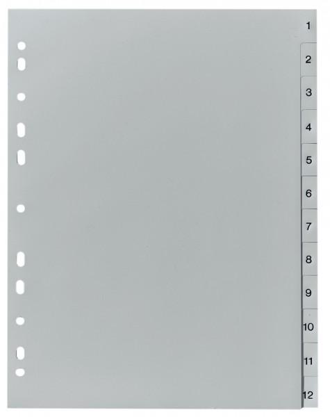 Herlitz Kunststoff Register Zahlen A4 10 Teilig Grau