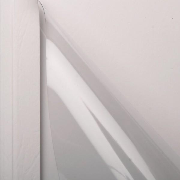 25 Thermobindemappen, Leder farbig, 1.5 mm - weiß