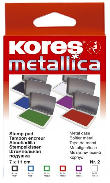 Kores Stempelkissen METALLICA, (B)110 x (T)70 mm, violett