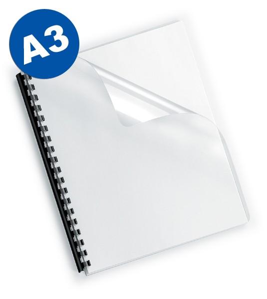 Deckelfolien A3, transparent-klar, 150 mic
