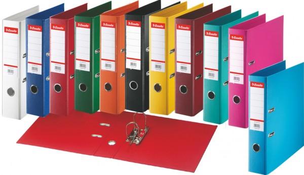 Esselte Plastik-Ordner Standard, DIN A4, 50 mm, sortiert
