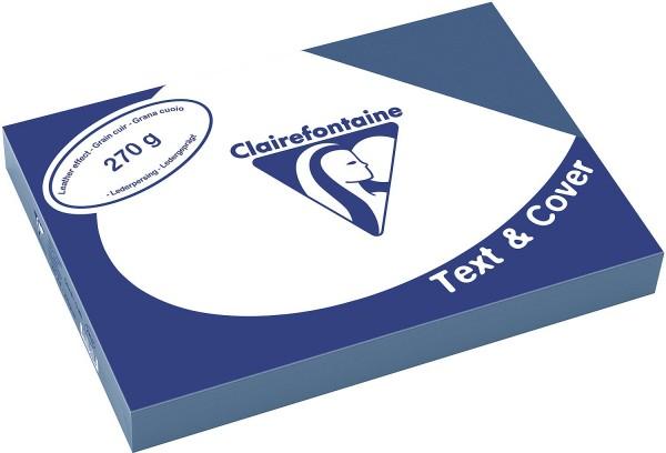 Clairefontaine Einbanddeckel, Lederstruktur, 270 g/m² - blau - blau