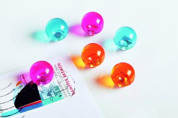 magnetoplan Magnetkugeln, Durchmesser: 14 mm, pink