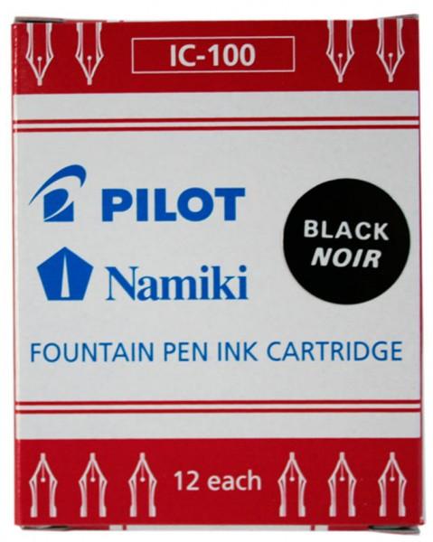 PILOT Tintenpatronen Namiki, für Füllhalter Capless, schwarz