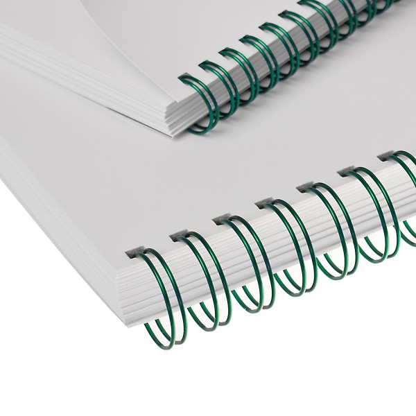 RENZ Drahtbinderücken, Teilung 3:1, 5.5 mm - grün metallic