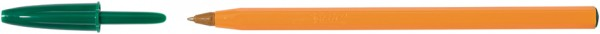BIC Kugelschreiber Orange, Strichfarbe: grün