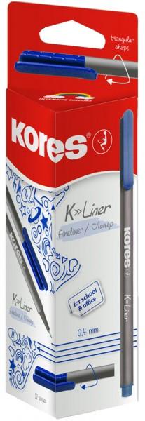 Kores Fineliner ´K-Liner´, Strichstärke: 0,4 mm, blau