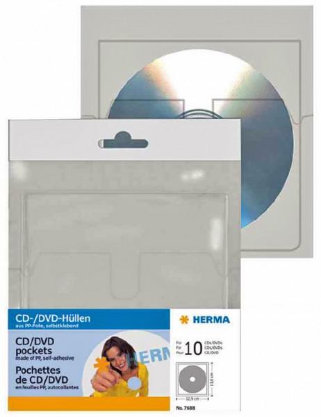 selbstklebende CD-/DVD-Taschen mit Klappe