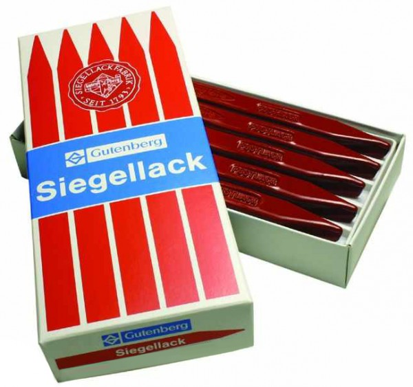 Gutenberg Siegellack Urkundenlack, zinnoberrot