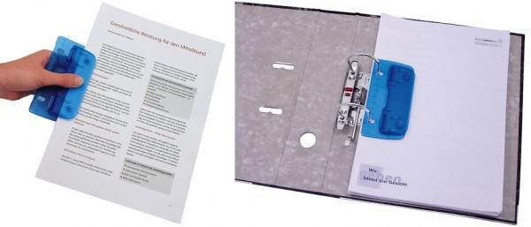 WEDO Taschenlocher, Stanzleistung: 3 Blatt, ICE grün
