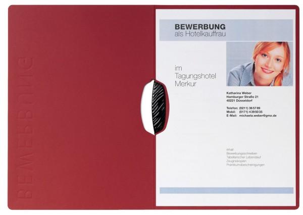 PAGNA Bewerbungsmappe ´Swing´, DIN A4, aus Karton, rot