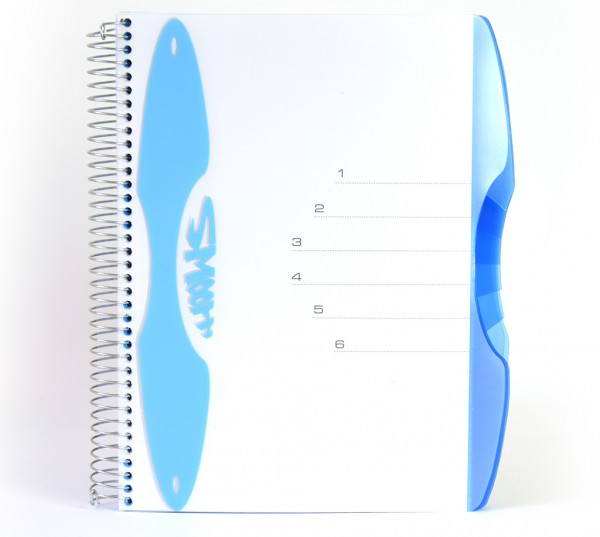 "Notizbuch ""Smooth"", PP-Hardcover mit Drahtspiralbindung - blau & Format"
